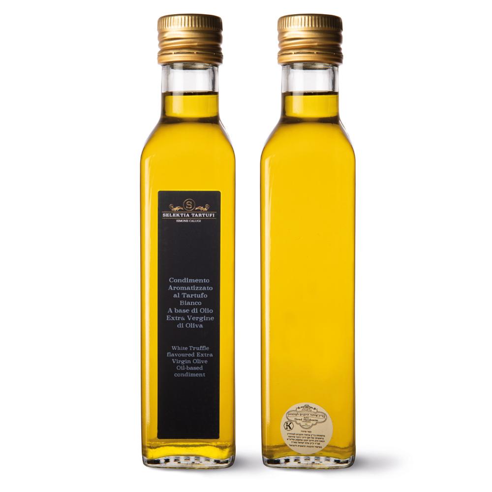 condimento aromatizzato al tartufo bianco a base di olio evo_250m